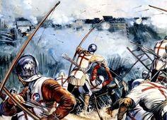 English Archers Assault French Defenses, Castillon, 1453 - Gerry Embleton