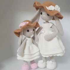 Mom and baby bunny - Free Pattern