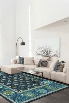 Kavi Diamond Polychrome Rug washable rug by Ruggables! Washable Area Rugs, Machine Washable Rugs, Home Rugs, Rugs In Living Room, Midnight Blue, Colorful Rugs, Home Decor, Blue Persian Rug, Persian Carpet