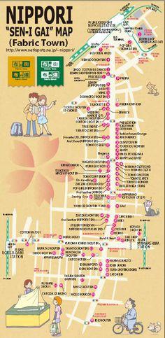 Nippori Textile Town Map