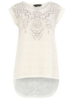 Aztec tee in white