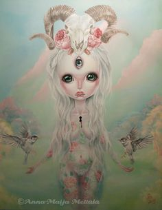 Her work is beautiful, creepy, and cute all at the same time, it's awesome