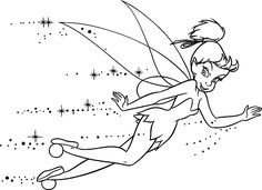Beautiful Tinkerbell Was Flying Coloring Pages