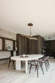 Dining Furniture, Furniture Design, Natural Wood Decor, Interior Decorating, Interior Design, Dining Room Design, Villa, Home Decor Inspiration, Kitchen Interior