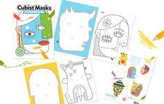 ¡Alarga las horas de diversión del #findesemana creando máscaras cubistas inspiradas en Picasso! Encontrarás este libro-juego para colorear en #LibreríaMPM.