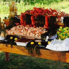 Lombardi's Market - Seafood Station for a Vineyard Wedding.