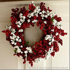 DIY Dollar Tree berry wreath