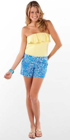 "Lilly Pulitzer Callahan Shorts in ""Sailor's Valentine"" (Spring 2012)"