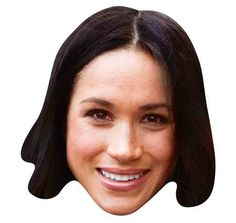 Meghan Markle Mask (each): Join the latest craze and become a Royal Celebrity for the night with this life size face mask. Comes with eye holes and elastic fastening. Eye Hole, Party Face Masks, Printable Masks, Royal Prince, Crown Headband, Prince Harry And Meghan, Meghan Markle, American Actress, Fancy Dress