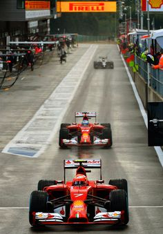 Ferrari at the Formula One 2014 #F1 Belgian GP @ Spa-Francorchamps