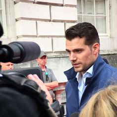 #actor #HenryCavill being #interviewed at the #Film4 #UK #premiere of #ManFromUNCLE #iPhone6 #olloclip #ollocliplondon #olloclipactivelens #telephoto