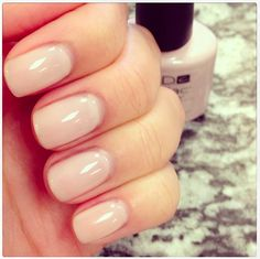 Nude nails (CND Shellac!) - Romantique