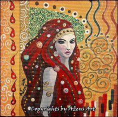 MINIATURE AMANDA Canvas: 10 x 10 cm