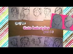 ♡Quick Tips♡ How to draw cute hairstyles for BEGINNERS (part 1) - YouTube
