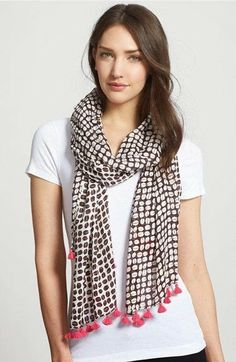 This cute scarf‼️ kate spade new york 'coffee bean' scarf available at Nordstrom