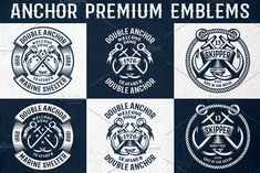 Anchor Premium Emblems by Agor2012 shop on @creativemarket
