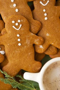 This molasses-dark, ginger-and-spice flavored cookie is perfect for gingerbread men. We roll it a bit thicker than usual, to give the cookies just a hint of chew. Holiday Treats, Christmas Treats, Christmas Baking, Holiday Recipes, Holiday Baking, Ginger Bread Cookies Recipe, Cookie Recipes, Dessert Recipes, Desserts