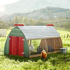 One Day if I have land I will have this for my chics :) Belltown Chicken Coop #WilliamsSonoma