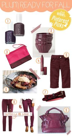 Plum ready for fall inspiration board #ColorfulFall #PinParty