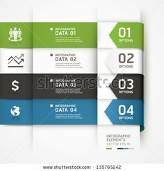 Abstract arrow business infographics template. Vector illustration. can be used for workflow layout, diagram, number options, step up options, banner, web design - stock vector
