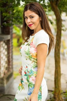 Look do dia Moikana + Monalisa de batom #micamacho #floralprint