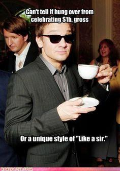 Like a straight shootin' boss, Hawkeye!