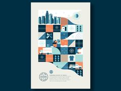 Adobe Insiders – Holiday Poster building geometric abstract grid donate snowflake snow city skyline delivery truck winter Source by yihsuanlu Related posts: Tet holiday gift poster design Billie Holiday Poster. Design Typography, Graphic Design Posters, Graphic Design Inspiration, City Poster, Posters Conception Graphique, Vintage Poster, City Illustration, Landscape Illustration, Print Layout