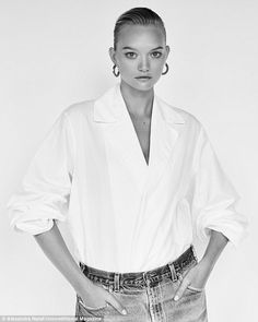 Retro chic: Gemma Ward recently payed homage to 80's fashion in a new photo shoot for Unconditional magazine