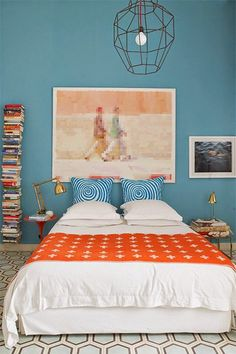 Complémentaires, le orange et le bleu se marient à l\'infini si l\'on ...
