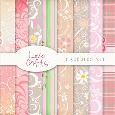Freebies Backgrounds Kit - love Gifts-Pastels------- NOT for COMMERCIAL USE
