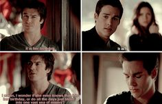 "tvd 6x13 His whole face fell, ""It is....?"" :'D THAT'S FUCKING RIGHT KAI!"