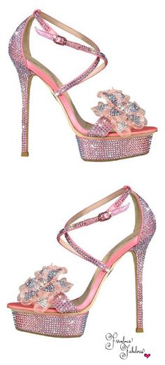 Le Silla ~ Spring Pink Crystal Sandals