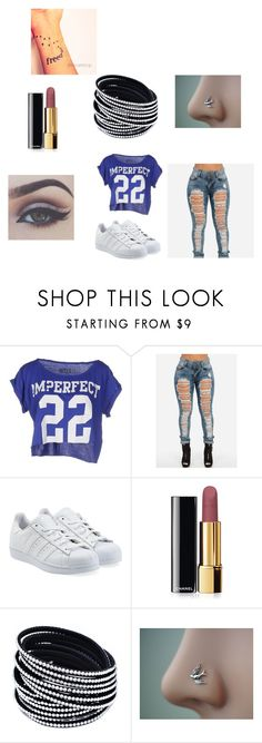 """Everyday"" by ashlee-borst on Polyvore featuring !M?ERFECT, adidas Originals and Chanel"