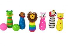 Buy our Animal Skittles by Orange Tree Toys available now at The Toy Centre. Makes delightful gift. Contains 6 individual wooden animal skittles. Wooden Animals, Wooden Toys, Toddler Toys, Kids Toys, Developmental Toys, Pull Toy, Zebras, Pet Toys, Gifts For Kids