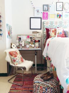 My boho-chic Anthropologie inspired dorm room at SCAD