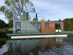 Bluefield Houseboats is currently working on a fully off-grid option for its models, but for now...