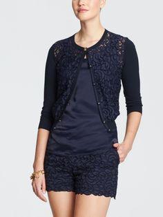 hermitage lace cardigan | Draper James