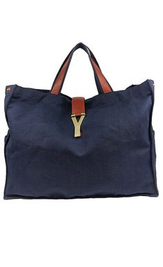 Yves Saint Laurent Navy Tote l Vaunte