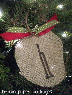 {burlap ornaments} - Simply Kierste