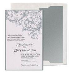 Silver Baroque Invitations - Jasmine & Woo (#109822) | FineStationery.com