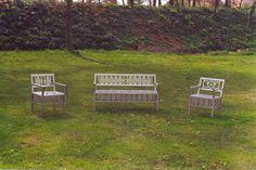 Set sedute da esterno in acciaio inox by Zambaldo Design