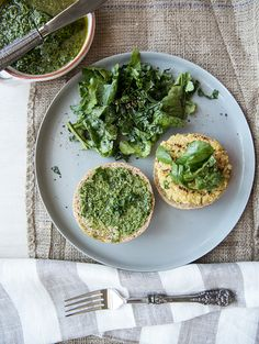 quinoa + white bean burgers with a ramp + chili pesto | what's cooking good looking
