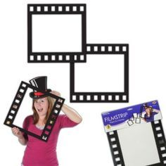 Use these Filmstrip Photo Frames as props in your Hollywood-Themed Photo Booth! You can also use them to frame pictures from a Hollywood or movie-themed event.
