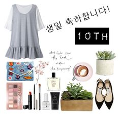 """""""Celebrate Our 10th Polyversary!"""" by jinchoihae ❤ liked on Polyvore featuring Jimmy Choo, Threshold, NARS Cosmetics, tenoverten, Liaison De Parfum, Maybelline, Ilia, Beauty Is Life, Allstate Floral and polyversary"""