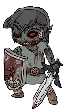 Killer Tattoo Flash of a Zombie Girl Warrior  RE: saw this sad comment made by precious pinner. This is link and he is a boy.... Maybe I'm just obsessed