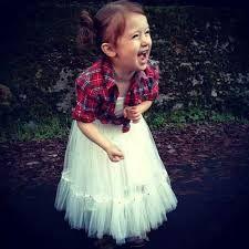flannel shirt white tutu flower girl