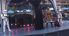 """At the Disneyland """"Jedi Training Academy"""", young children are invited to wear the signature Jedi robe and join a Jedi Master on stage. During the show, the Padawans are taught the sacred Jedi Oath and given a lesson on how to wield a lightsaber. However, things do not go as planned when SARIAH GALLEGO is confronted by Darth Vader. Instead of fighting Vader, cute Sariah kneels in front of the Sith Lord showing her true allegiance to the Dark Side and the Empire.  (Click to see hilarious…"""