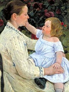 Mary Cassatt. I think this little subject may have Down Syndrome.