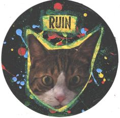 Ruined Record CAT ART by TheEscapistArtist on Etsy, $5.00