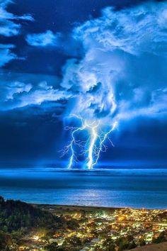 Ocean Lightning, Pacifica, California